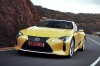 Driving 2018 Lexus LC 500 Coupe from a front left view