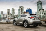 2015 Lexus NX200t in Atomic Silver - Static Rear Left View