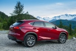 2015 Lexus NX300h in Matador Red Mica - Static Rear Right Three-quarter View
