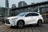 2016 Lexus NX200t F-Sport in Eminent White Pearl from a front left three-quarter view