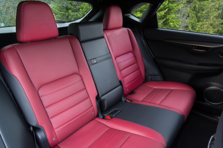 2017 Lexus NX200t F-Sport Rear Seats Picture