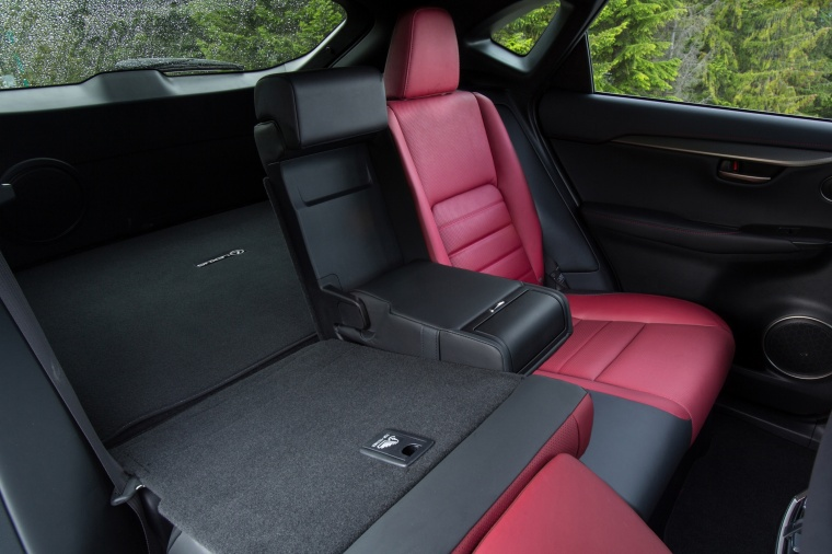 2017 Lexus NX200t F-Sport Rear Seats Folded Picture
