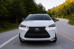 2017 Lexus NX200t F-Sport in Eminent White Pearl - Driving Frontal View