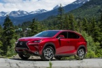 2017 Lexus NX300h in Matador Red Mica - Driving Front Left Three-quarter View