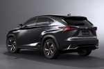 2018 Lexus NX300h in Caviar - Static Rear Left Three-quarter View
