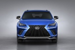 Picture of a 2019 Lexus NX300 F-Sport in Ultrasonic Blue Mica 2.0 from a frontal perspective