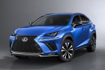 Picture of a 2019 Lexus NX300 F-Sport in Ultrasonic Blue Mica 2.0 from a front left perspective