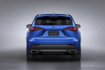 Picture of a 2019 Lexus NX300 F-Sport in Ultrasonic Blue Mica 2.0 from a rear perspective