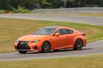 2015 Lexus RC-F in Molten Pearl - Driving Front Left Three-quarter View
