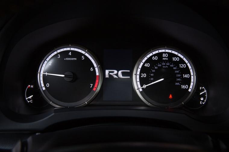 2016 Lexus RC350 F-Sport Gauges Picture