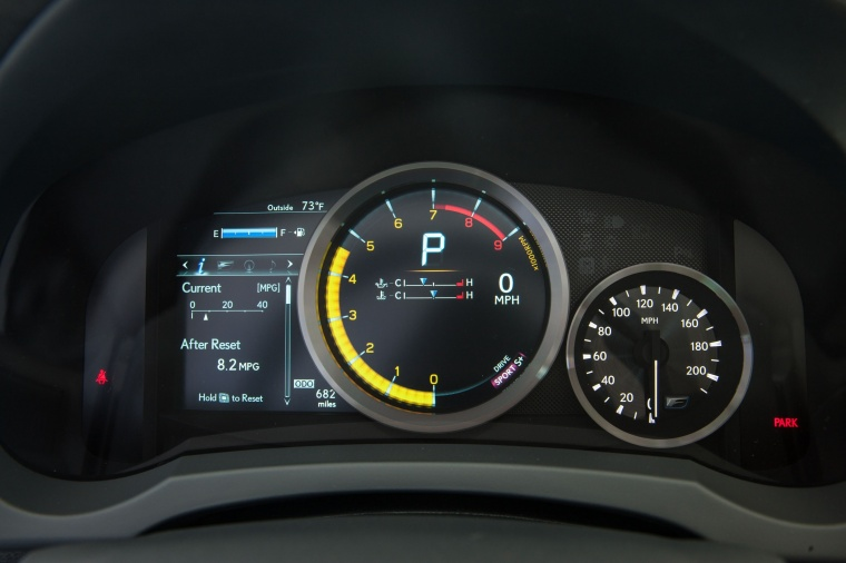 2016 Lexus RC-F Gauges Picture