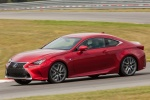 2016 Lexus RC350 F-Sport in Infrared - Driving Front Left Three-quarter View