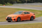 2016 Lexus RC-F in Molten Pearl - Driving Front Left Three-quarter View
