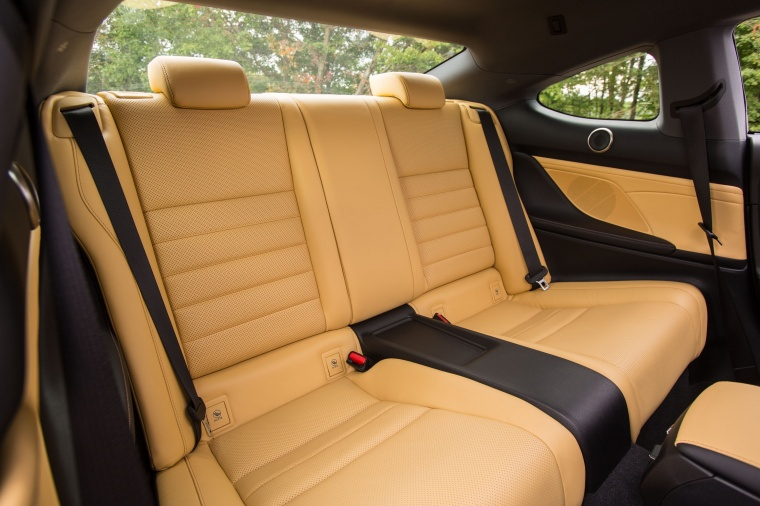 2017 Lexus RC350 F-Sport Rear Seats Picture