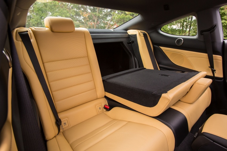 2017 Lexus RC350 F-Sport Rear Seats Folded Picture