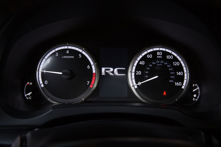 2017 Lexus RC350 F-Sport Gauges Picture