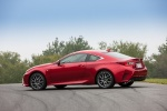 2017 Lexus RC350 F-Sport in Infrared - Static Rear Left Three-quarter View