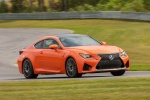 2017 Lexus RC-F in Molten Pearl - Driving Front Right Three-quarter View