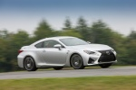 2018 Lexus RC-F in Silver Lining Metallic - Driving Front Right Three-quarter View