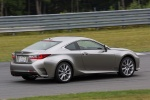 2018 Lexus RC350 F-Sport in Nebula Gray Pearl - Driving Rear Right Three-quarter View
