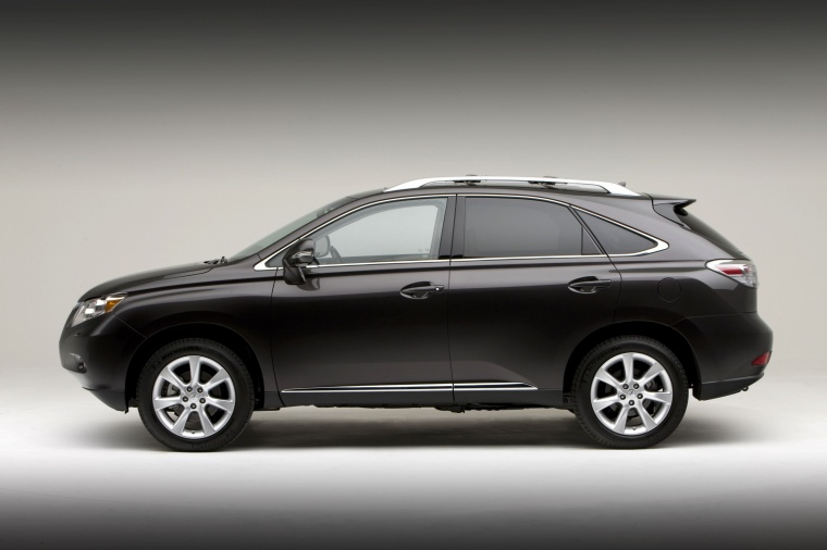 2011 Lexus RX350 in Obsidian from a side view