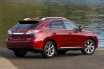 2011 Lexus RX350 in Matador Red Mica - Static Rear Right Three-quarter View
