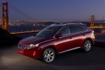 2011 Lexus RX350 in Matador Red Mica - Static Front Left Three-quarter Top View