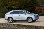 2011 Lexus RX450h in Cerulean Blue Metallic - Static Right Side View