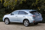 2011 Lexus RX450h in Cerulean Blue Metallic - Static Rear Left Three-quarter View