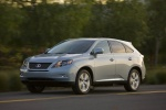 2011 Lexus RX450h in Cerulean Blue Metallic - Driving Front Left Three-quarter View