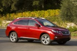 2011 Lexus RX450h in Matador Red Mica - Driving Front Right Three-quarter View