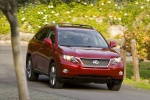 2011 Lexus RX450h in Matador Red Mica - Driving Front Right View
