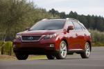 2011 Lexus RX450h in Matador Red Mica - Driving Front Left View