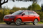 2011 Lexus RX450h in Matador Red Mica - Static Front Left Three-quarter View