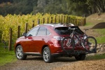 2011 Lexus RX450h in Matador Red Mica - Static Rear Left Three-quarter View
