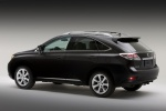 2012 Lexus RX350 in Obsidian - Static Rear Left Three-quarter View
