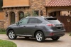 2014 Lexus RX350 in Nebula Gray Pearl from a rear left three-quarter view