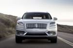 Picture of a driving 2020 Lincoln Nautilus 2.7T AWD in Ceramic Pearl from a frontal perspective