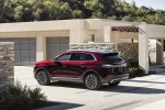Picture of a 2020 Lincoln Nautilus Black Label 2.7T AWD in Burgundy Velvet from a rear left three-quarter perspective