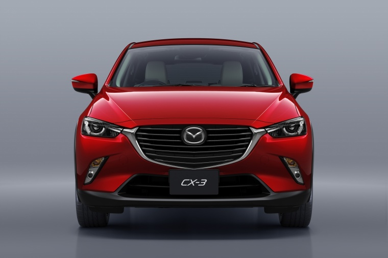 2018 Mazda CX-3 in Soul Red Metallic from a frontal view