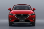 Picture of a 2018 Mazda CX-3 in Soul Red Metallic from a frontal perspective