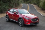 Picture of a 2018 Mazda CX-3 in Soul Red Metallic from a front right three-quarter perspective