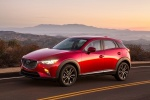 Picture of a 2018 Mazda CX-3 in Soul Red Metallic from a front left three-quarter perspective