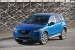 Picture of a 2014 Mazda CX-5 in Sky Blue Mica from a front left top perspective