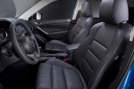 Picture of a 2014 Mazda CX-5's Front Seats in Black
