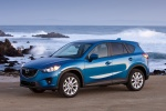 Picture of a 2014 Mazda CX-5 in Sky Blue Mica from a front left three-quarter perspective