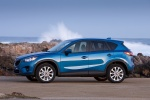Picture of a 2014 Mazda CX-5 in Sky Blue Mica from a left side perspective
