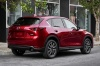 Picture of a 2017 Mazda CX-5 Grand Touring AWD in Soul Red Crystal Metallic from a rear right perspective