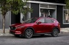 Picture of a 2017 Mazda CX-5 Grand Touring AWD in Soul Red Crystal Metallic from a front left three-quarter perspective