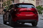 Picture of a 2018 Mazda CX-5 Grand Touring AWD in Soul Red Crystal Metallic from a rear left perspective